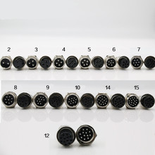 GX20 Connector 2/3/4/5/6/7/8/9/10/11/12/ Pin Male Female 20mm Circular Aviation Interface Socket Plug Wire Panel Waterproof cap 10 set gx25 2 3 4 5 6 7 8 pin flange air aviation connector plug 25mm male female panel metal connector socket