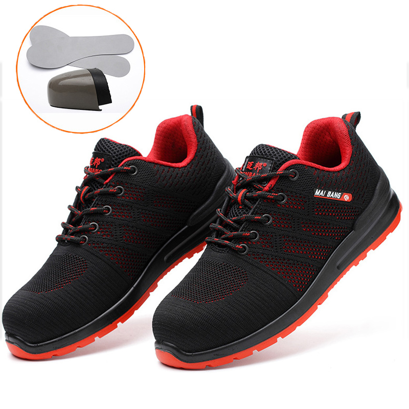 Chaussures de travail en acier unisexe indestructibles orteil hommes femmes respirant léger Construction industrielle bottes de sécurité anti-crevaison
