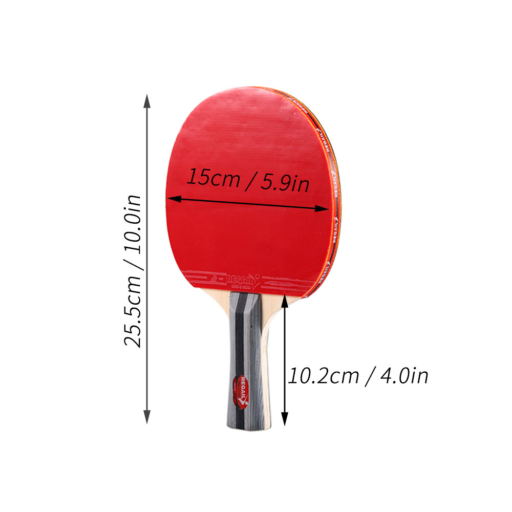 Best Quality Table Tennis Racket Ping Pong Paddle Set Table Tennis Rackets And 3 Balls With Cover Bag For 2 Players