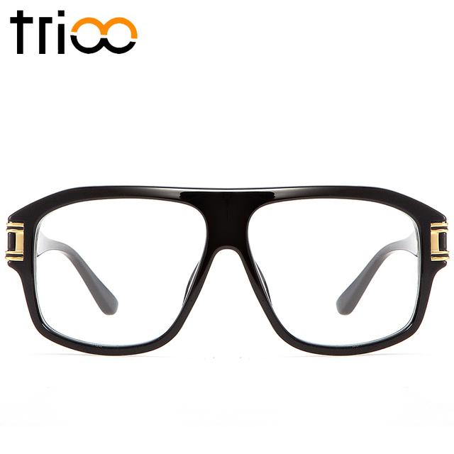Trioo 2017 lente clara óculos espetáculo eyewear quadros quadrado preto óculos de computador de alta qualidade transparente óptico óculos mens