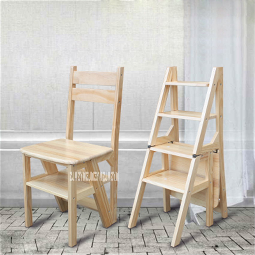 Astonishing Multi Functional Four Step Library Ladder Stool Solid Wood Pabps2019 Chair Design Images Pabps2019Com