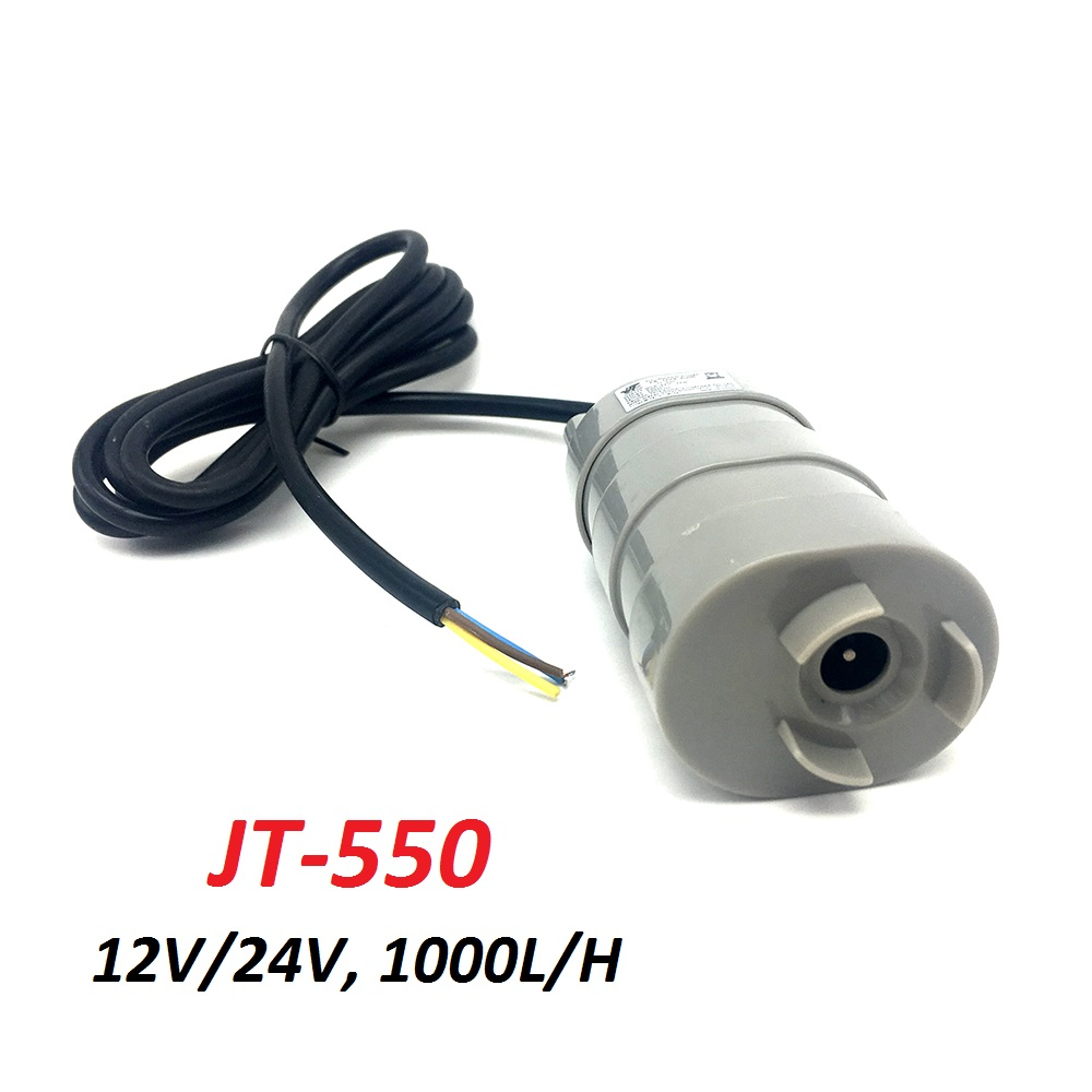 Jovtop JT-550 DC 12V 24V 1000L/H Max Flow Rate Submersible Water Pump