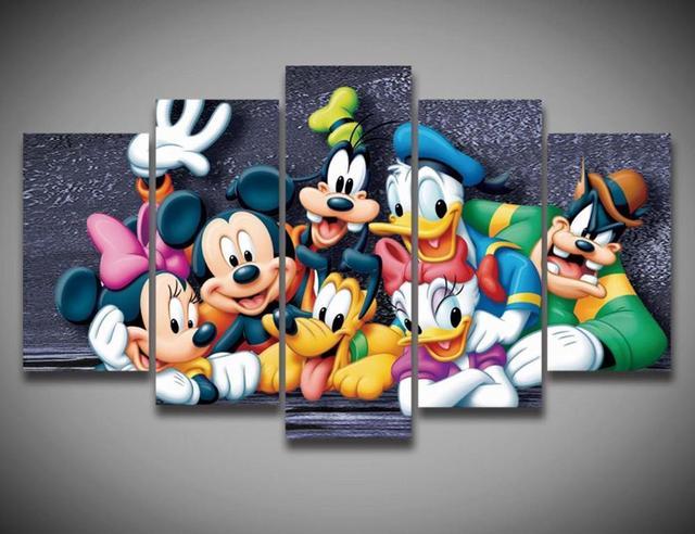 Enmarcado Impresa de Dibujos Animados del Pato Donald Mickey Mouse ...