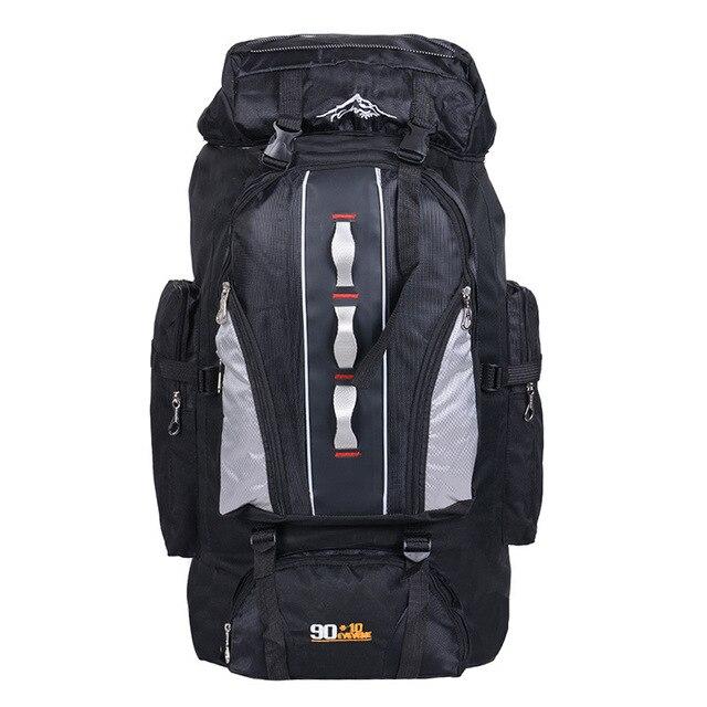 100L مقاوم للماء للجنسين الرجال على ظهره حزمة السفر حقيبة رياضية حزمة في الهواء الطلق تسلق الجبال التنزه تسلق التخييم على ظهره للذكور