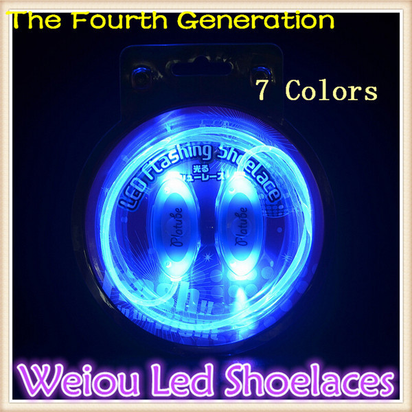 Hot selling New 1 Pair Promotional waterproof led shoelace led party shoelaces fiber optic led shoe lace 7 colors