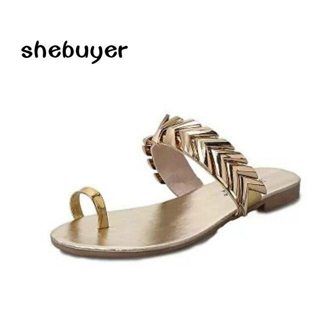 984e0dae0a10 2017 Mujeres Del Verano Zapatillas Planas Flip Flop Tanga Zapatos Bling Oro  Plata Color de la