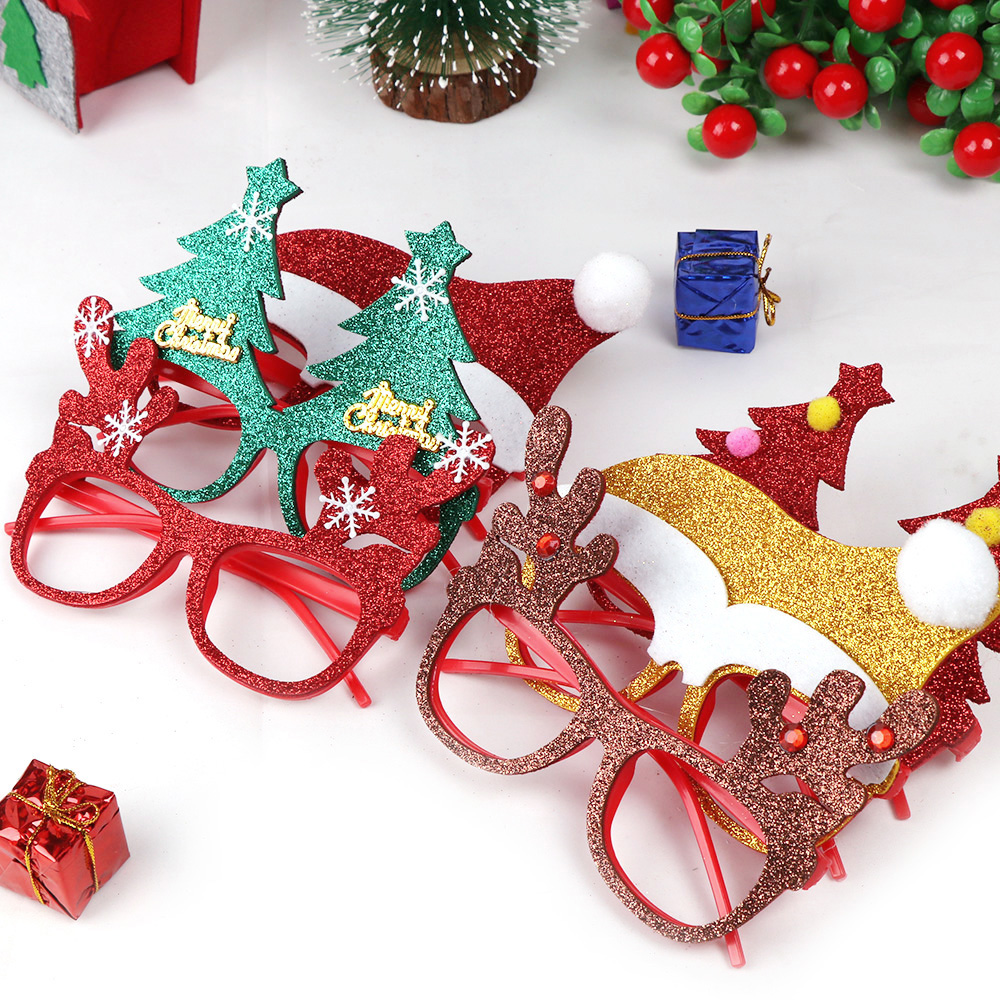 600pcs Christmas Decorations For Home Decor New Year Glasses For Children Santa Claus Deer Snowman Christmas Ornaments Random - 4