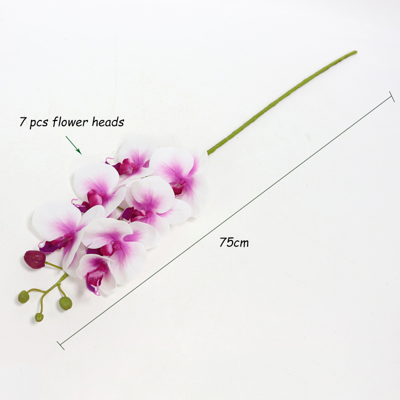 Lule Orkide Artificiale Prekja e Vërtetë Butterfly Artificial - Furnizimet e partisë - Foto 6