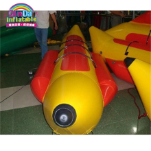 Yellow colour inflatable banana boat for three people