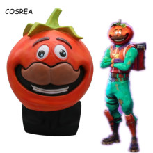 COSREA Tomatohead Tomato Latex Face Helmet Visor Cosplay Costumes Halloween Party