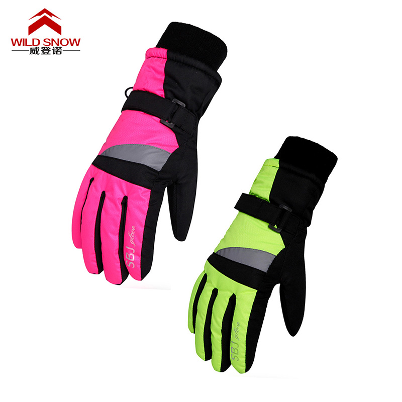 Professional Children Ski Gloves Girls Boys Warm Winter Waterproof Snow Gloves Kids Guan ...