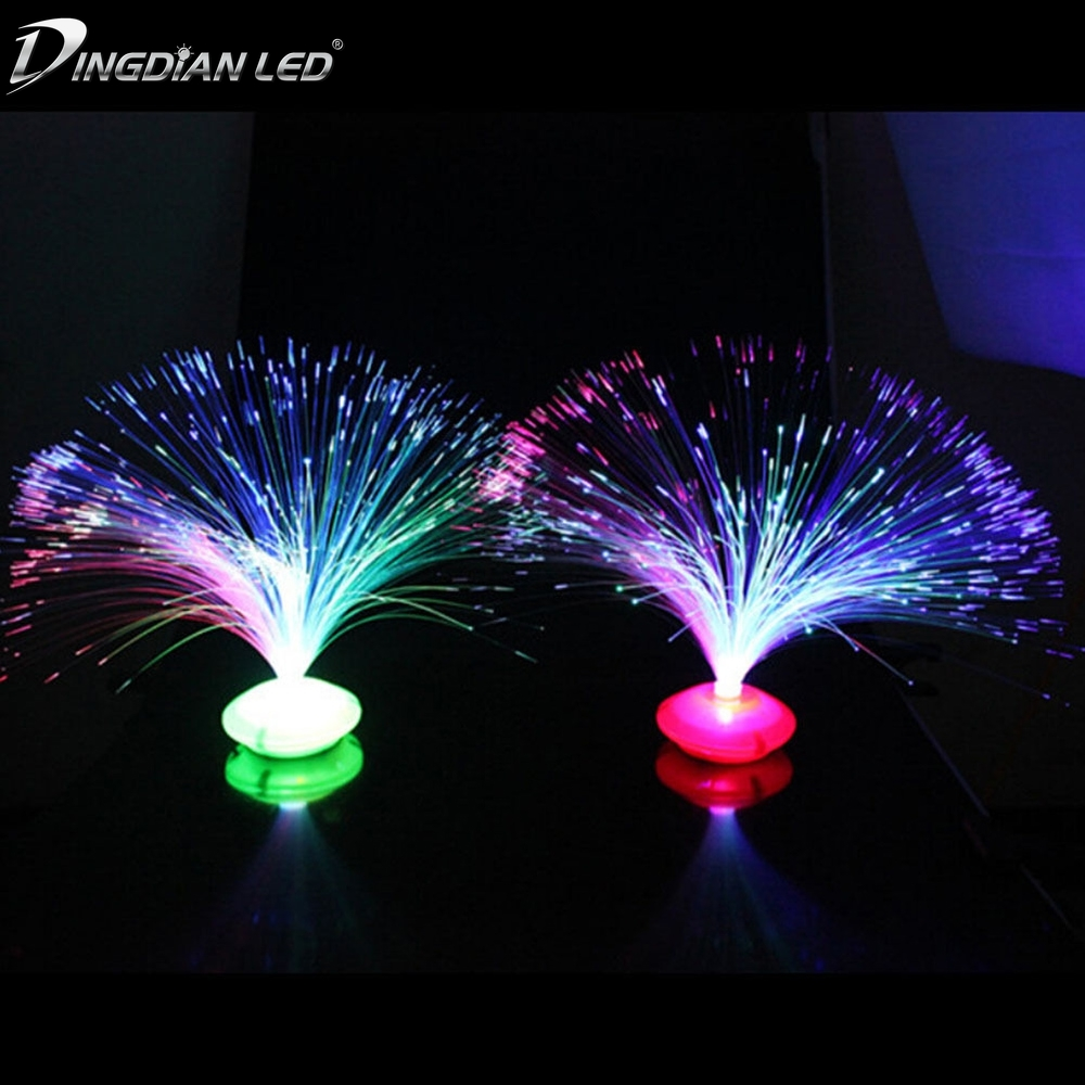 3 AA Beautiful Romantic Color Changing LED Fiber Optic Nightlight Lamp Small Night Light Chrismas Party Home Decoration in Night Lights from Lights Lighting