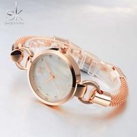 Shengke Top Brand Ladies Bracelet Wristwatches Luxury Fashion Women Watches Female Quartz Clock 2017 New Girls