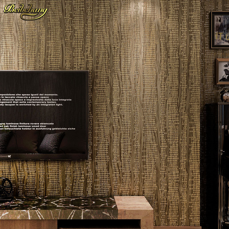 beibehang High-end fashion 3D non-woven wallpaper warm bedroom living room background wall full of high-grade solid color beibehang wall paper pune solid non woven classic grid pattern wallpaper backdrop living room bedroom den full of shops