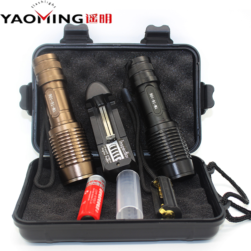 Flashlight CREE XML T6 2000lumen led bulb set 18650/AAA battery zoomable led torch tactical flashlights by camping lighting lamp edc gear tactical pen light portable led flashlight torch cree xp1 60lm survival tool hunting camping lamp by aaa battery
