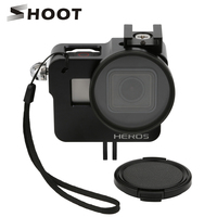 SHOOT Housing Shell Cage CNC Aluminum Alloy Protective Case For GoPro HERO 5 Black Camera With