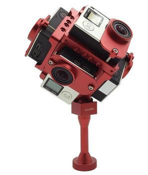 Распродажа! Для GoPro Hero 4/3 +/3 ЧПУ алюминиевого сплава 360 градусов Сферические панорама frame крепление панорамный VR Аэрофотосъемка