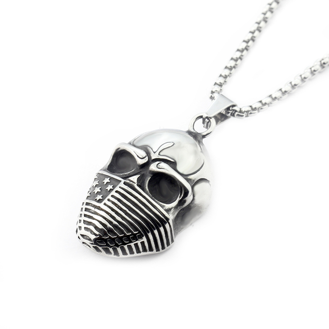 Dianshangkaituozhe gijoe jewelry punk devil charm skeleton pendant dianshangkaituozhe gijoe jewelry punk devil charm skeleton pendant necklace 2018 titanium steel american soldier skull necklaces aloadofball Image collections