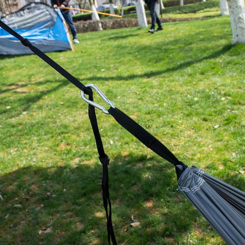 Rede portátil exterior de pouco peso do náilon do pára-quedas de 2019 produtos de acampamento único com lona da rede