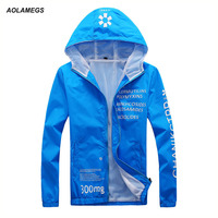 Men Hooded Sun Protection Jacket Spring Summer Quick Drying Outdoor Ultra Thin UV Sun Protection Outwear