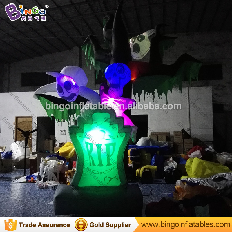 Halloween Toys Inflatable Decoration Dead Tree For Yard Inflatable Halloween Pumpkin Trees with Lights N Ghosts for decoration 2017 vioslite 2 1m inflatable christmas tree with bag in high quality for festival decoration
