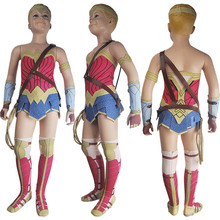 Kids Girls Superhero Wonder Woman (2017 film) Princess Diana Cosplay Halloween Costume Suit Skirt Deluxe Xmas Birthday Gift Toys