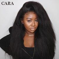Кудрявый прямой парик 250% плотность кружева передние человеческие волосы парики предварительно сорвал для женщин бразильский парик фронта