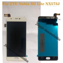 """5.5 """"ل ZTE nubia M2 لايت NX573J شاشات كريستال بلورية + اللمس شاشة مكونات الهاتف المحمول إصلاح أجزاء ل ZTE nubia m2 لايت عرض"""