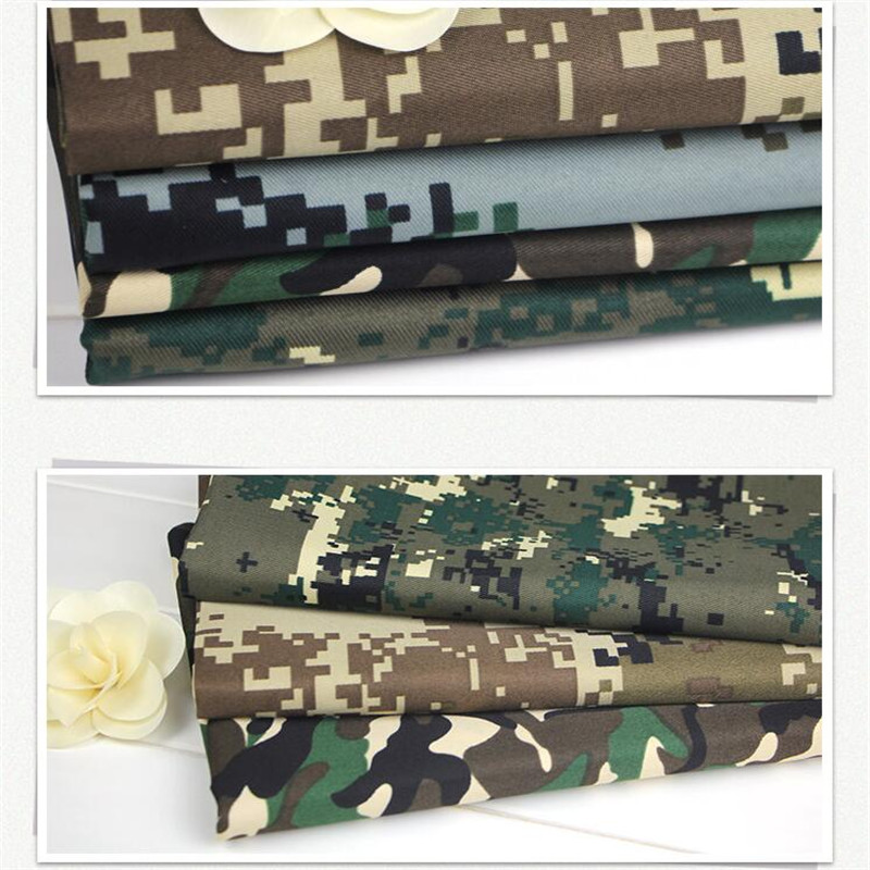New Printed Polyester Cotton Camouflage Fabric 150cm*100cm/pc Tooling Work Army Green Field Digital Urban Desert Camo cloth