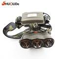 SLD-Q45 Magnetron diving T6 Headlamp 18650 Fishing Headlamp Tricolor headlights for Fishing hunt Hiking biking 800 lumens