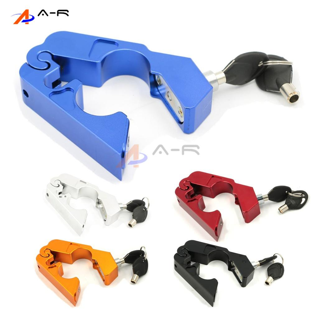 CNC Handlebar Handle Grip Throttle Brake Lever Security Safety Lock for Suzuki BURGMAN 650 Executive/Address V125 Police Scooter presidential nominee will address a gathering