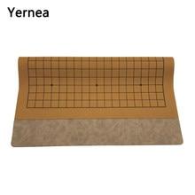 Yornée – plateau de jeu en cuir suédé de haute qualité, avec une face, 19 lignes, jeu d'échecs International, Weiqi