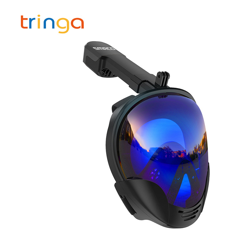 Новинка 2019, маска для подводного плавания с полным лицом, анти туман, маска для подводного плавания, набор, маска для плавания для камеры Gopro (