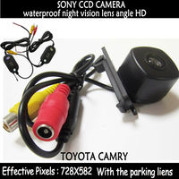 Wireless Transmitter Receiver SONY CCD Car Parking Camera For Toyota Camry Auto Backup Rear View Reverse