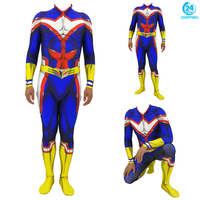 Anime My Hero Academia Boku no Hero Academia Cosplay Costume AllMight Zentai Bodysuit Suit Jumpsuits halloween costume