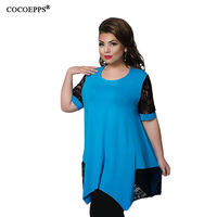 Summer Sexy 4XL 5XL 6XL Plus Size Lace Tops Women Casual Big Large Size Clothing High