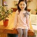 2017 Nuevos niños que arropan la primavera y otoño ropa de las muchachas niños traje de Ropa Deportiva desgaste