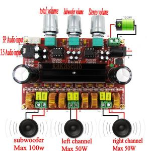 Image 3 - TPA3116 D2 50Wx2 + 100 واط 2.1 قناة الصوت الرقمية مضخم صوت مكبر كهربائي مجلس 12 ~ 24 فولت مكبر للصوت لوحات وحدات