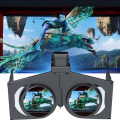 Adjustable Mini HeadMount Foldable 3D VR Glasses Virtual Reality Video Movie Game Glasses for Smart Phones 6.5 Inch Mobile Phone