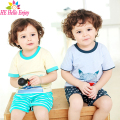 HE Hello Enjoy children clothing cartoon kids boys clothes summer 2017 casual Short sleeve T-shirt + striped shorts tracksuits