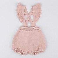 0 3 Years 2018 Wholesale Autumn Cotton Baby Pink Jumpsuit Knit Romper Pick Size 1CS0102