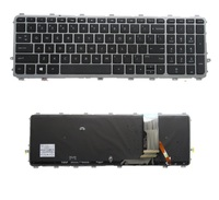 SSEA New US Laptop Keyboard for HP Envy 15 J 17 J M7 J Backlit Keyboard Silver Frame