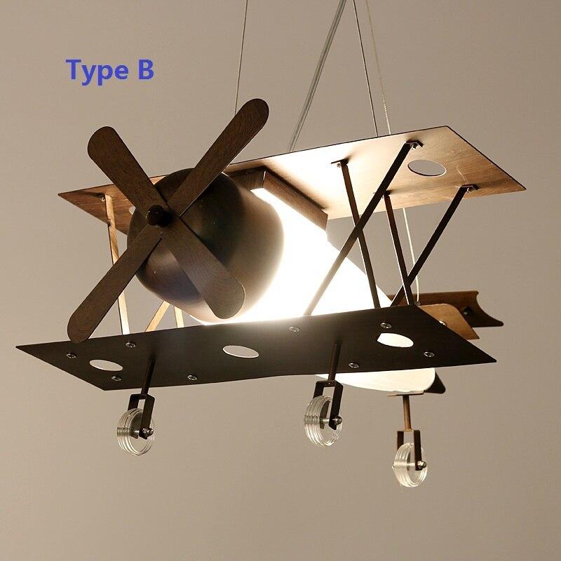 US $135.79 30% OFF|Vintage Iron Plane Kids Pendant Lights Fixtures  Children\'s Bedroom Lamparas Novelty Child Bedroom Hanging Lamp Lighting  Decor-in ...