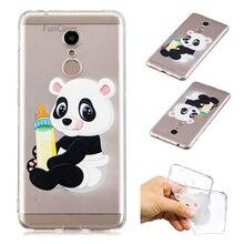 Hola Panda caja del teléfono Aksesuar Redmi 5 suave TPU contraportada Carcasas del teléfono móvil transparente para Xiaomi Redmi 5 Kasus