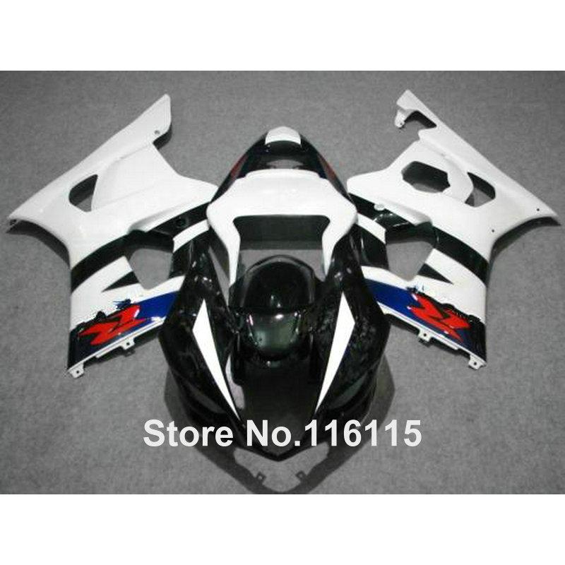 100% fit for SUZUKI Injection molding GSXR1000 fairing kit K3 K4 2003 2004 white blue black fairings set GSXR 1000 03 04 AP37