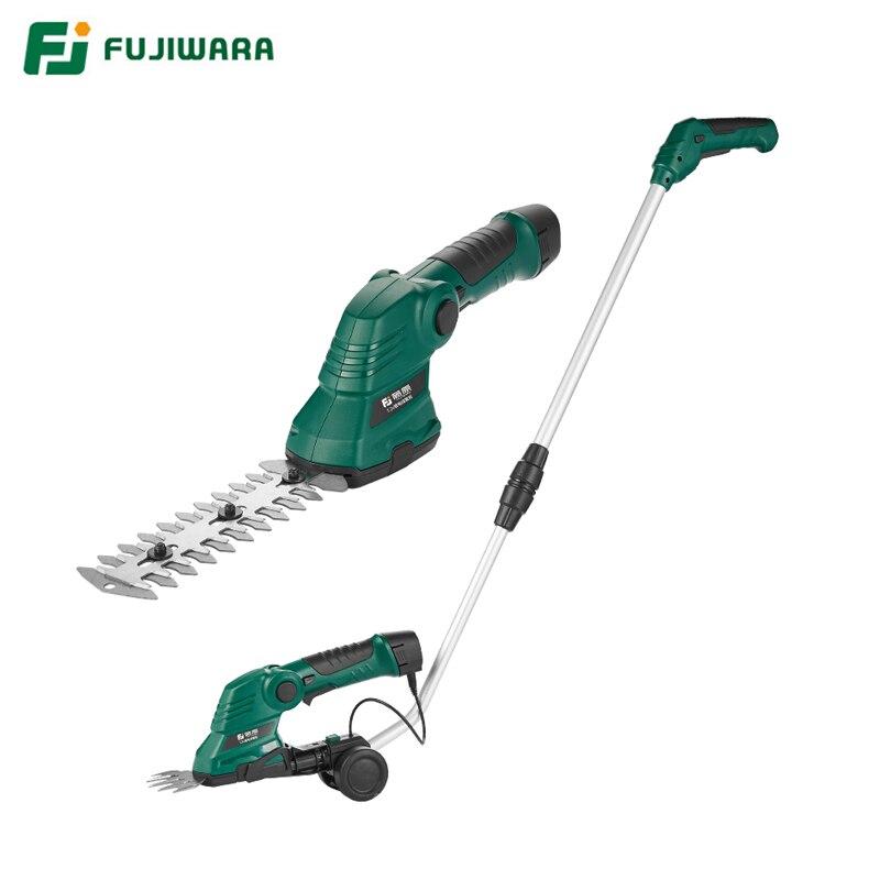 FUJIWARA 7.2V Elétrica Trimmer Tesouras De Poda de Jardim Tesouras Ferramentas de Jardinagem Weeder Gramado Hedge Cerca Recarregável