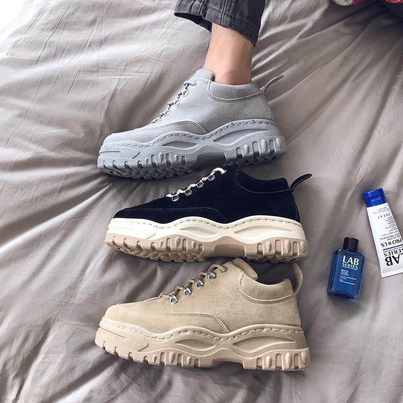Мужская модная обувь на низком каблуке; chaussure homme; мужские кроссовки для тренировок; Basket Homme; обувь для папы; Дизайнерские кроссовки на платформе