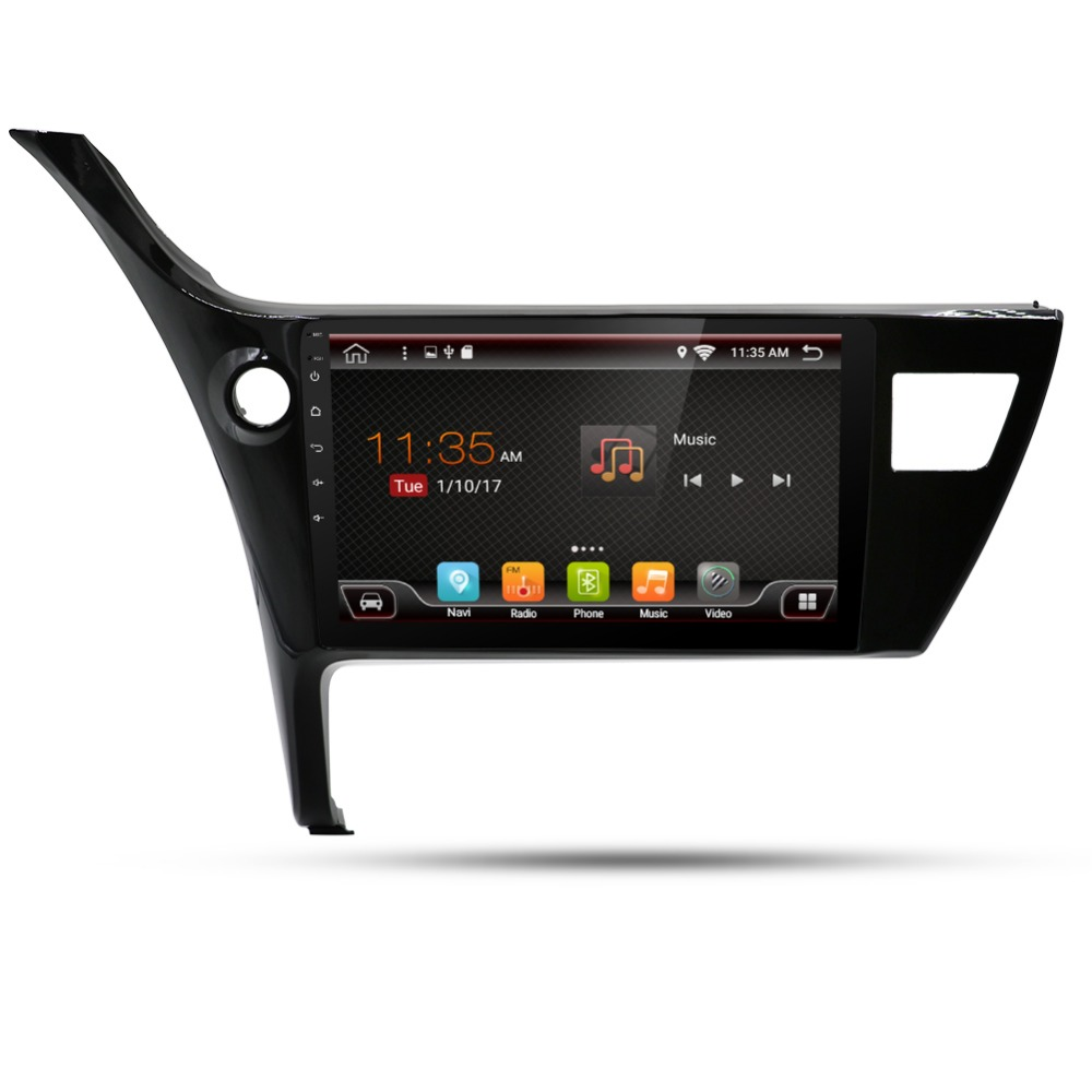Quad Core 1024*600 2 din Android 6.0 Fit TOYOTA COROLLA 2017 Car DVD Player Navigation GPS Radio