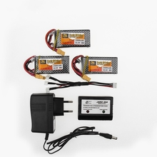 3pcs Zop Original LiPo Battery 11.1V 1500Mah 3S 40C MAX 60C XT60 Plug With Charger RC Car Airplane Boats Helicopter Lipo Battery