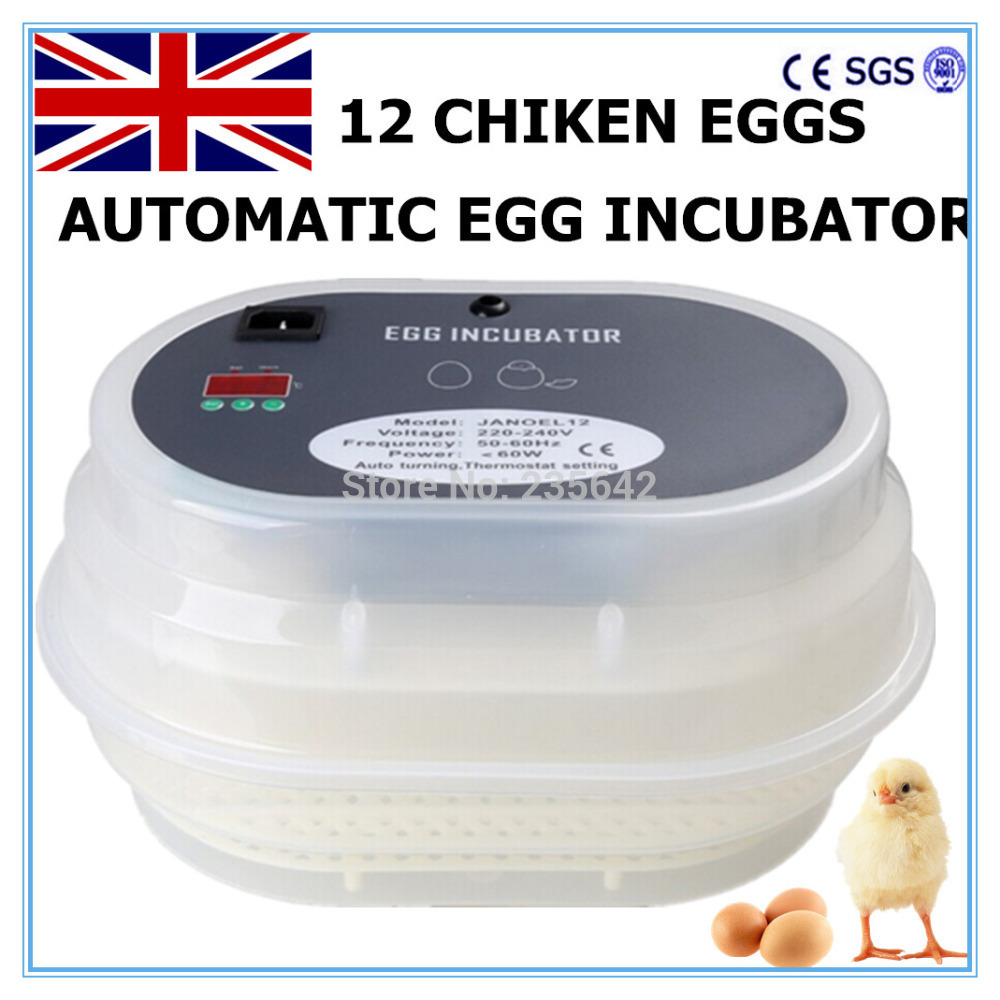 12 Eggs incubator egg automatic for chicken quail tool to EU free ship to au new sale home automatic egg incubator 56 eggs chicken incubator brooder quail eggs incubators
